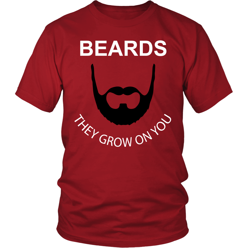 FunkyShirty Beards They Grow On You  Creative Design - FunkyShirty