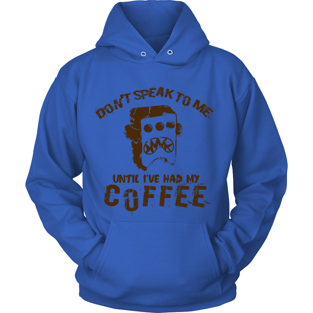 FunkyShirty Dont Speak to me until Ive had my Coffe (Men)  Creative Design - FunkyShirty