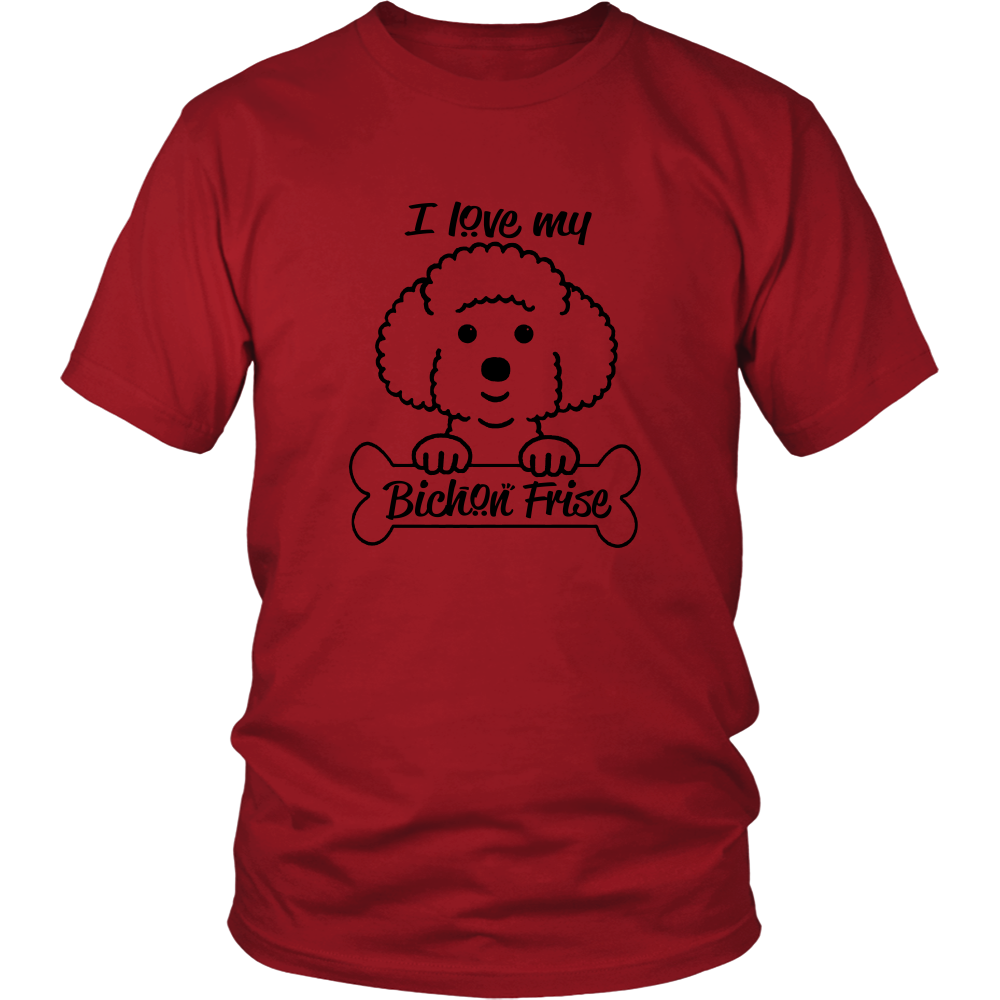FunkyShirty I Love My Bichon Frise (Men)  Creative Design - FunkyShirty