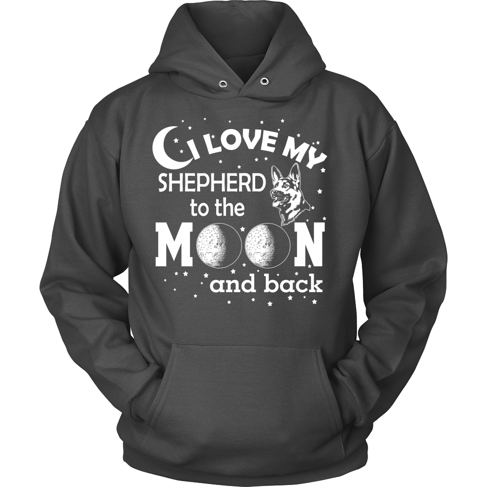 FunkyShirty I Love my Shepherd to the Moon and Back (Men)  Creative Design - FunkyShirty