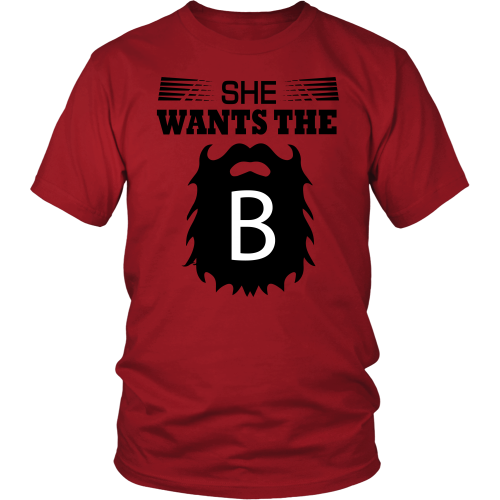 FunkyShirty She Wants The Beard  Creative Design - FunkyShirty