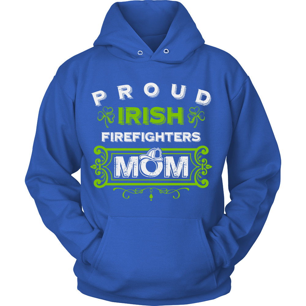 FunkyShirty Proud Irish FireFighters Mom  Creative Design - FunkyShirty