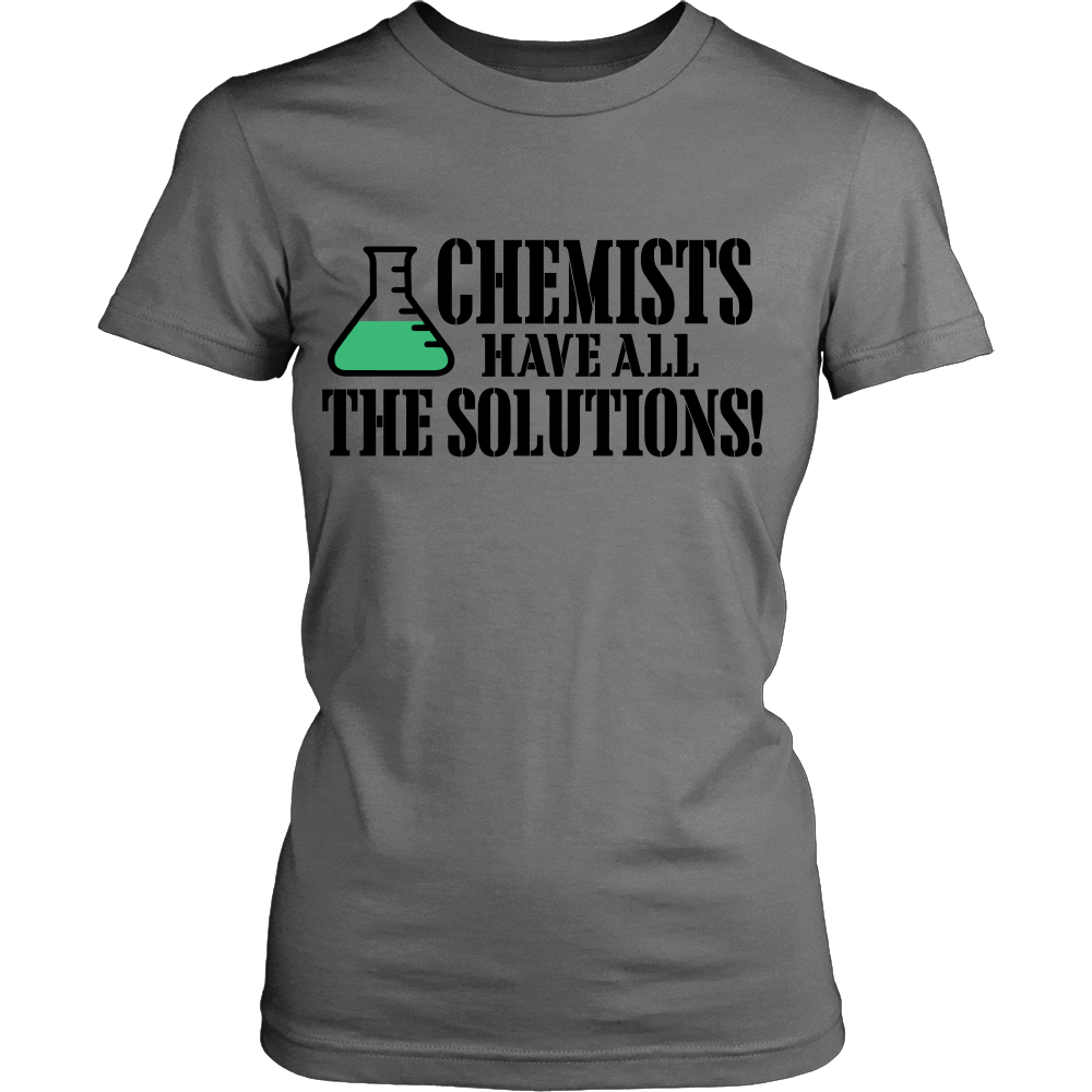 FunkyShirty Chemists have All The Solutions! (Women)  Creative Design - FunkyShirty