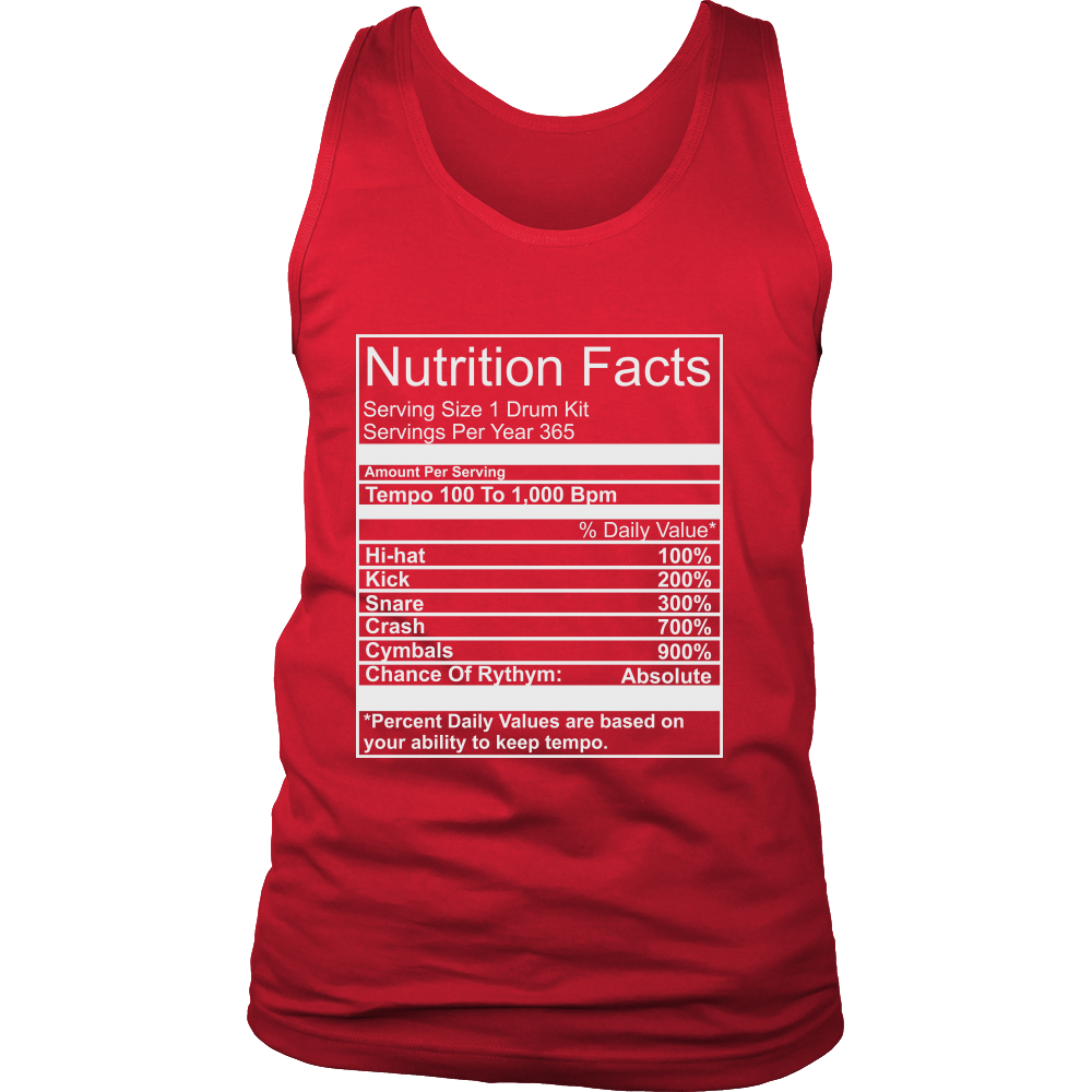 FunkyShirty Nutrition Facts (Men)  Creative Design - FunkyShirty