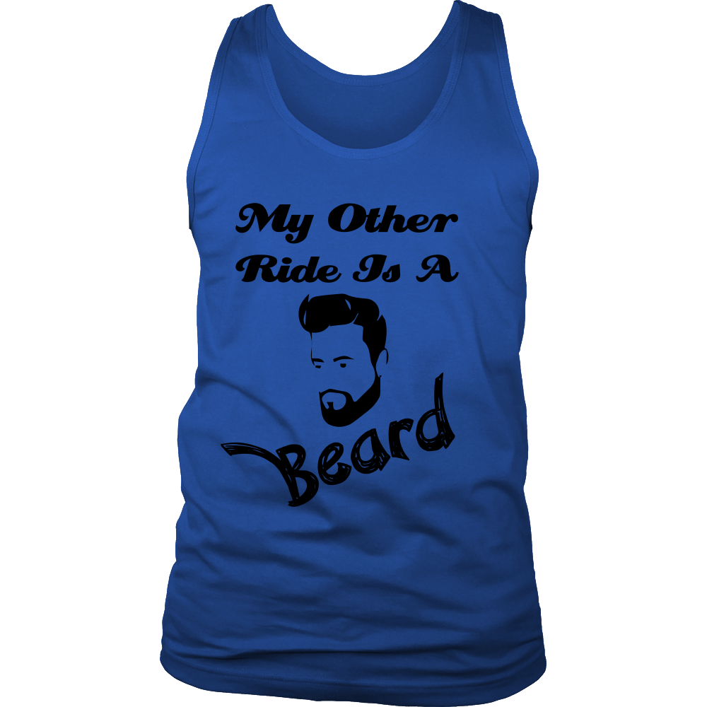FunkyShirty My Other Ride is a Beard  Creative Design - FunkyShirty