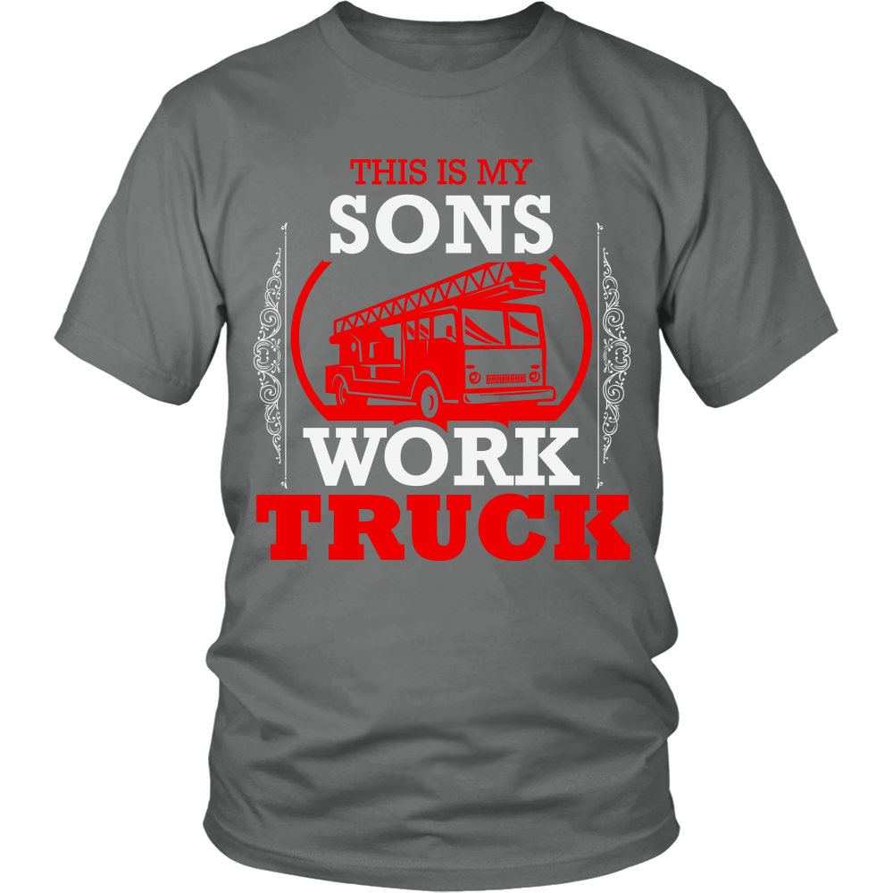 FunkyShirty This is my Sons Work Truck (Men)  Creative Design - FunkyShirty