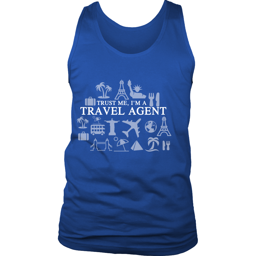 FunkyShirty Trust me I'm a Travel Agent (Men)  Creative Design - FunkyShirty