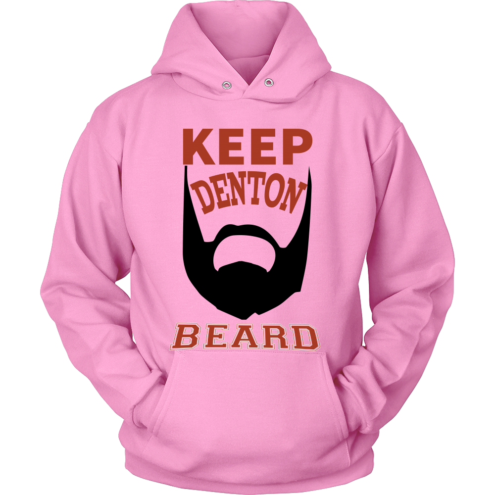 FunkyShirty Keep Denton Beard  Creative Design - FunkyShirty