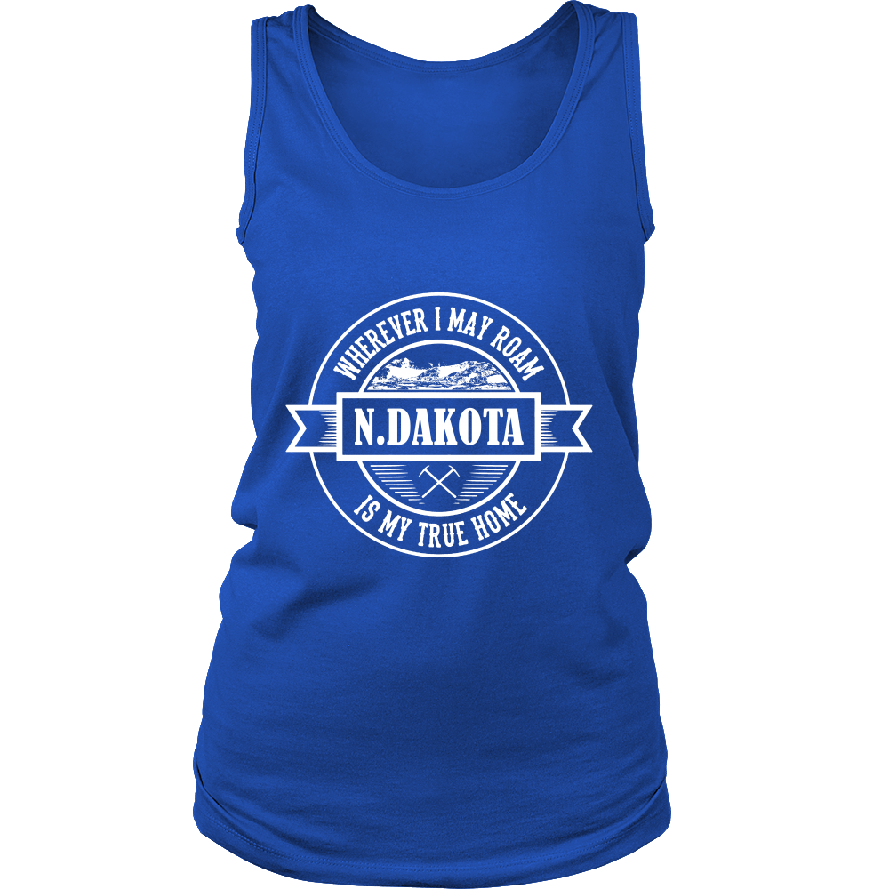 FunkyShirty North Dakota is my True Home (WOMEN)  Creative Design - FunkyShirty