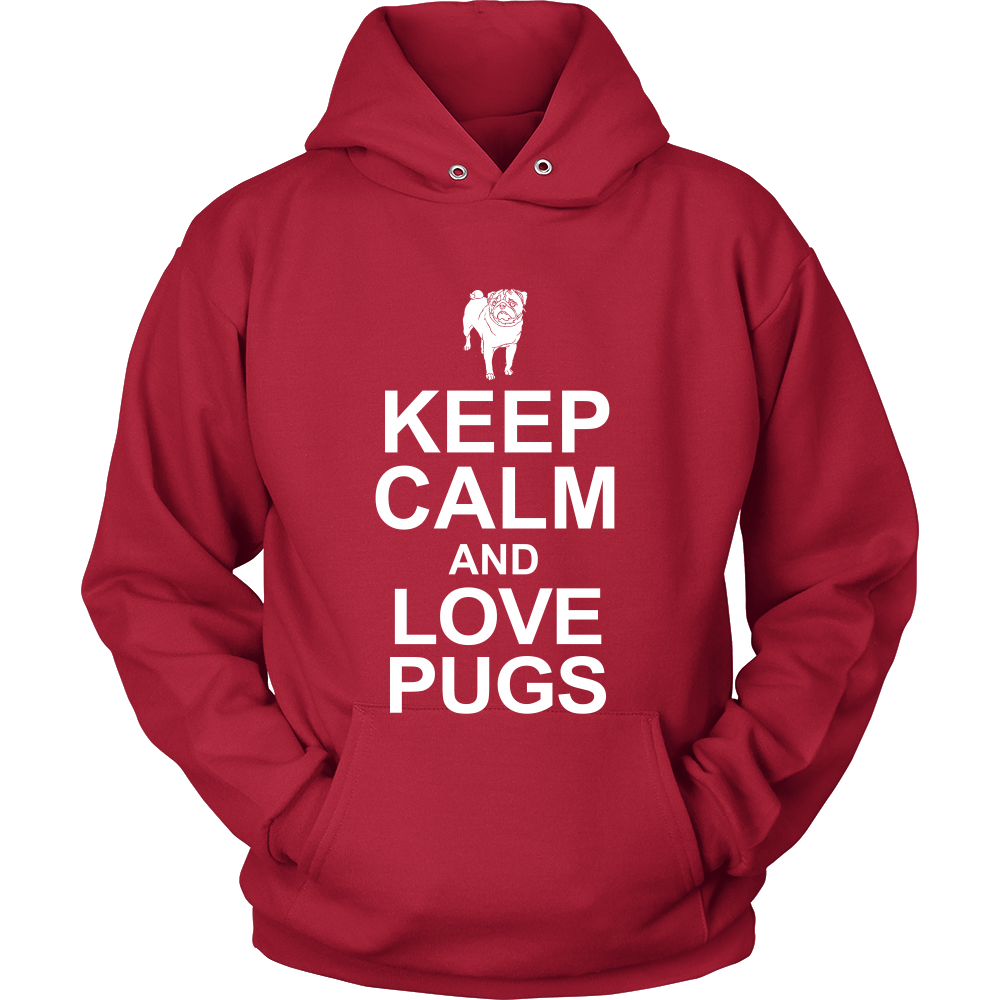 FunkyShirty Keep Calm and Love Pugs (Women)  Creative Design - FunkyShirty