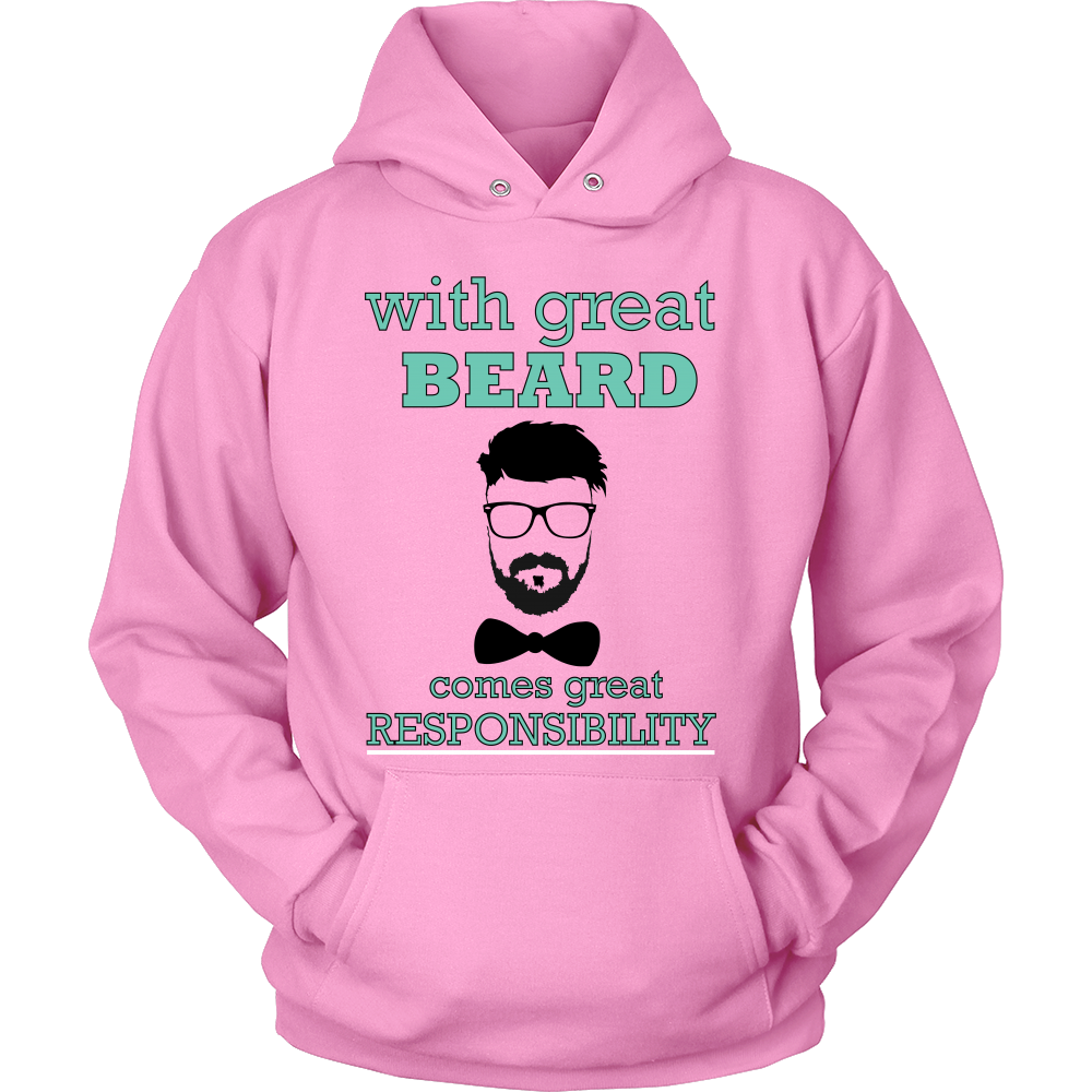 FunkyShirty With Great Beard Comes Great Rsponsibility  Creative Design - FunkyShirty