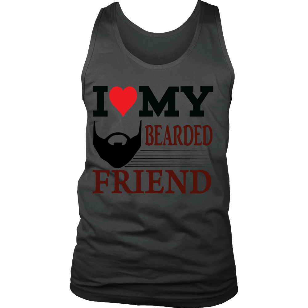 FunkyShirty I Love My Bearded Friend  Creative Design - FunkyShirty