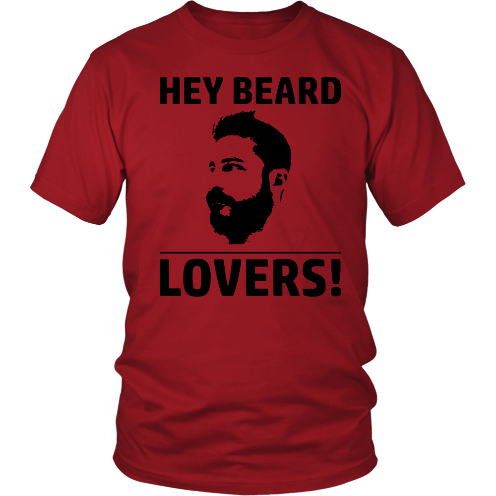FunkyShirty Hey Beard Lovers  Creative Design - FunkyShirty