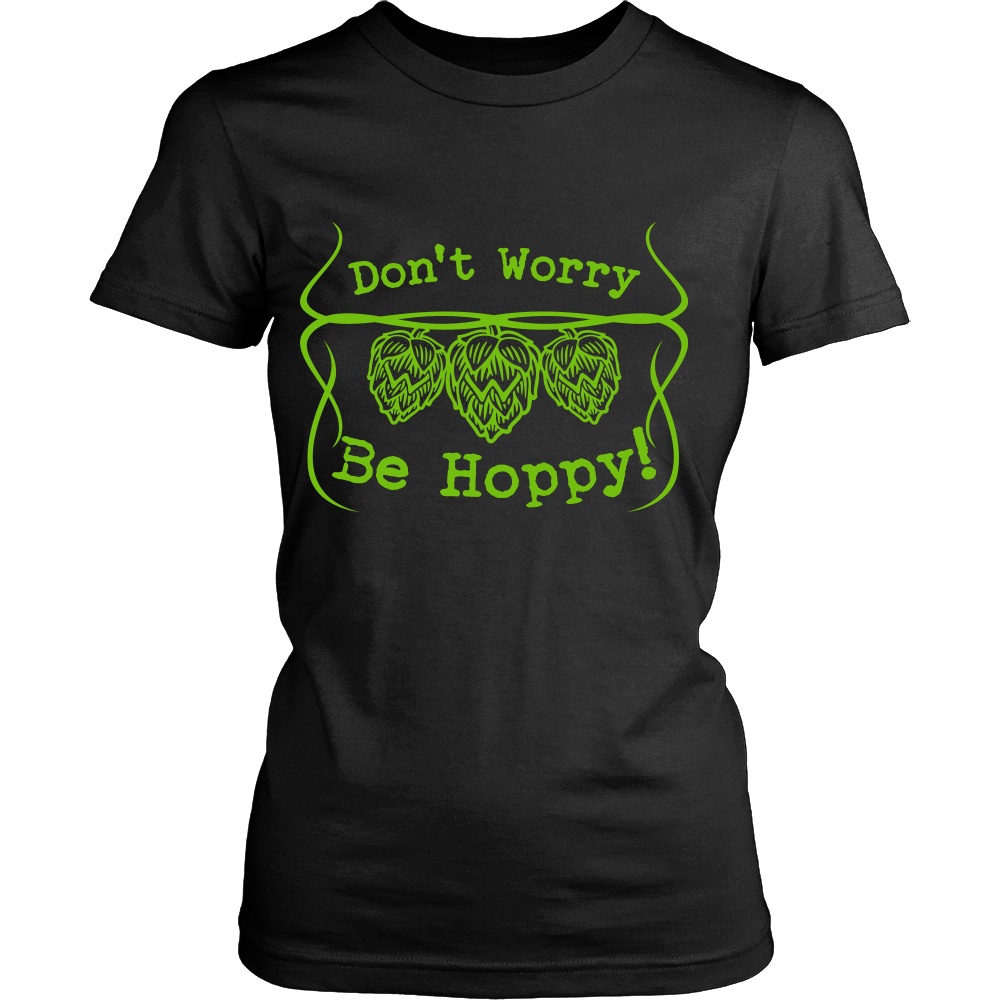 FunkyShirty Don't Worry Be Hoppy (Women)  Creative Design - FunkyShirty