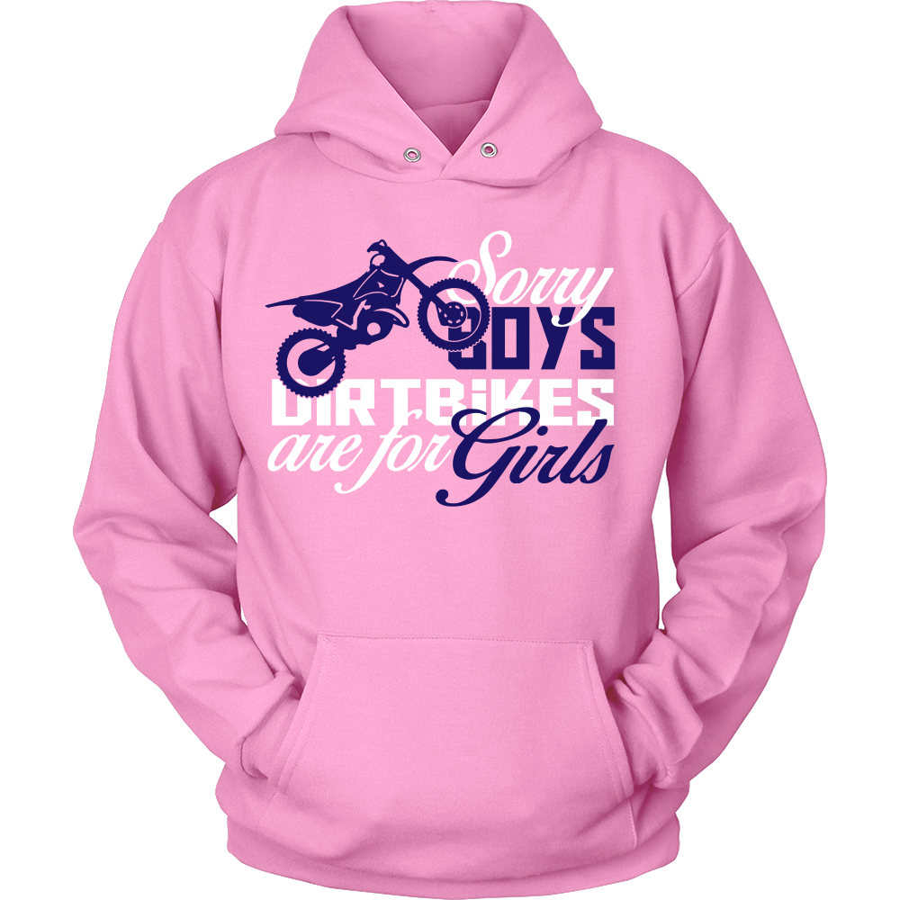 FunkyShirty Sorry Boys Dirtbike are for Girls  Creative Design - FunkyShirty