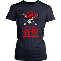 FunkyShirty Beware Serious Baseball Mom  Creative Design - FunkyShirty