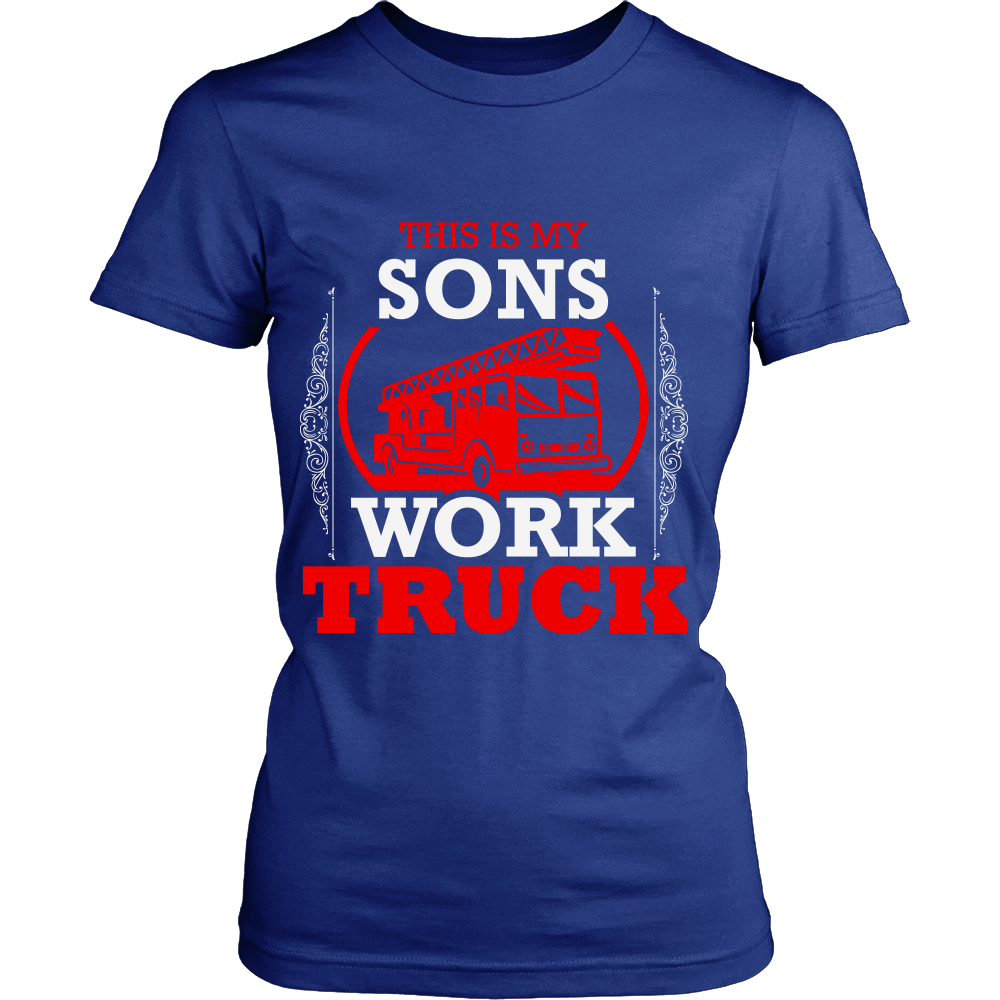FunkyShirty This is my Sons Work Truck (Women)  Creative Design - FunkyShirty