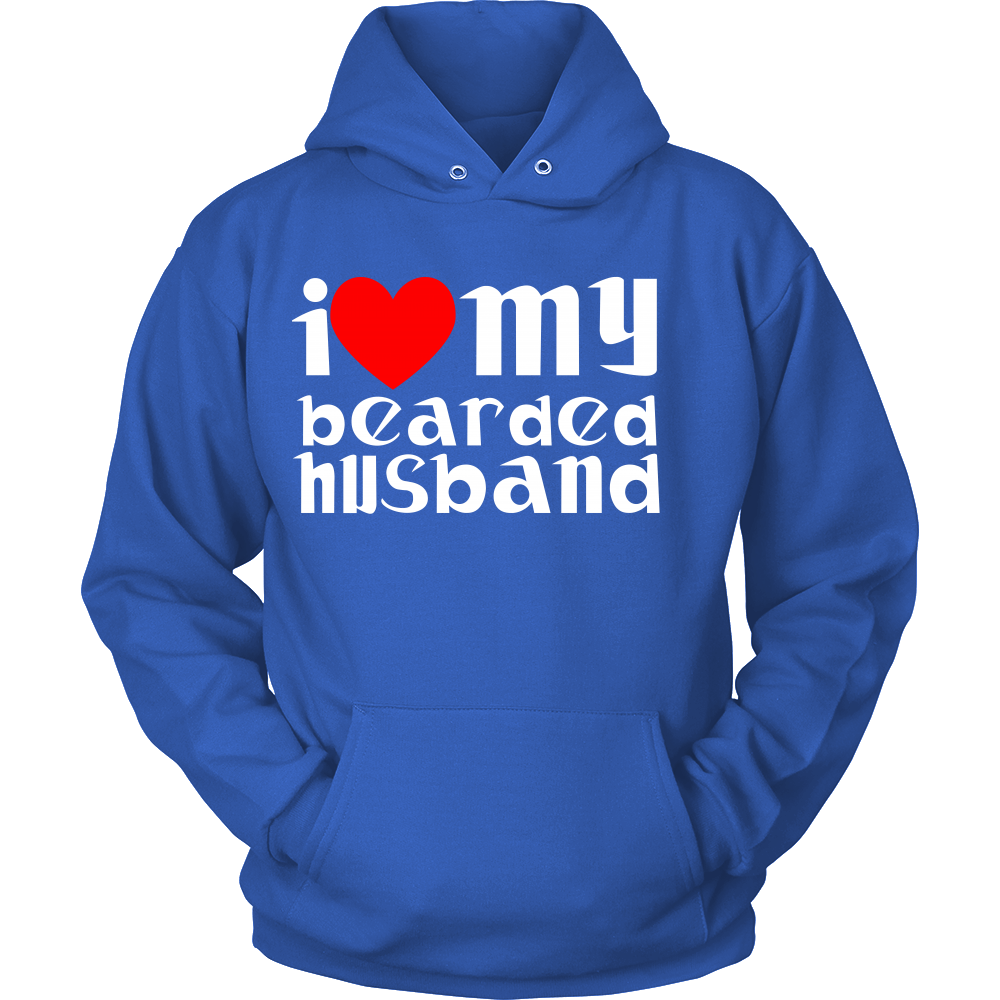 FunkyShirty I Love my bearded Husband  Creative Design - FunkyShirty