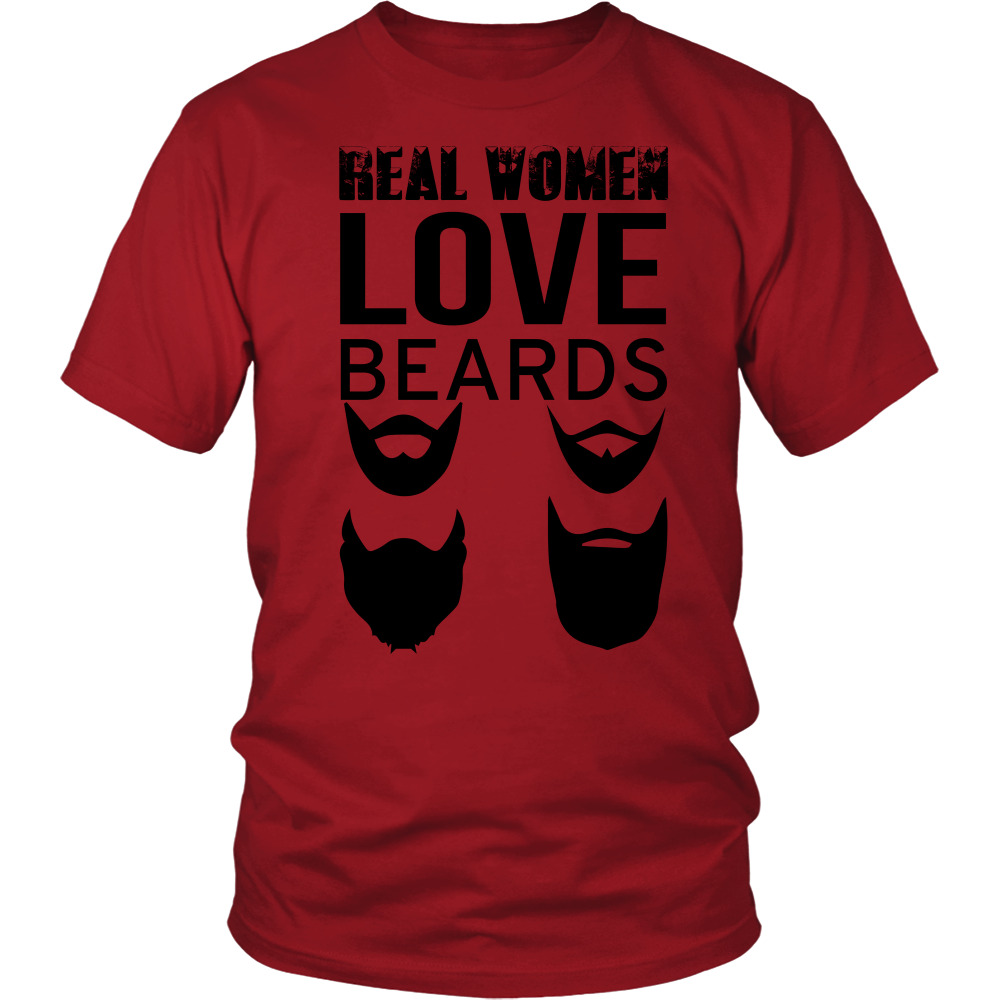 FunkyShirty Real Women Love Beards  Creative Design - FunkyShirty