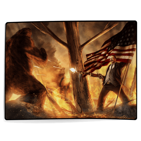 Teddy Roosevelt VS Bigfoot - Blanket