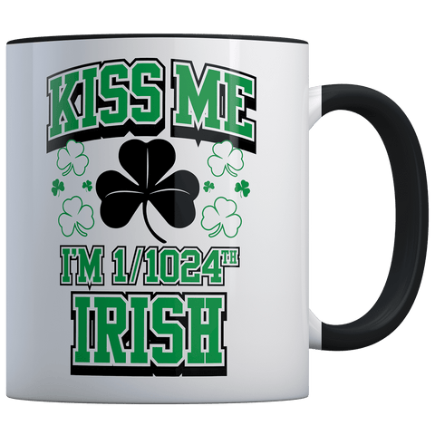 SPD: Kiss Me I'm 1/1024th Irish! - Coffee Mug