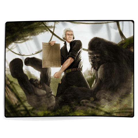 Thomas Jefferson VS Gorilla - Blanket