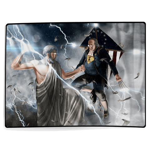 Ben Franklin VS Zeus - Blanket