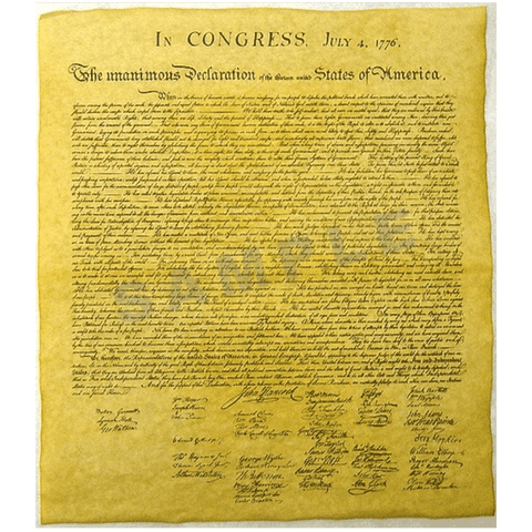 Declaration of Independence - Exact Replica