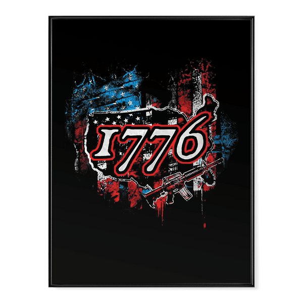 1776 Rifle Flag - Poster