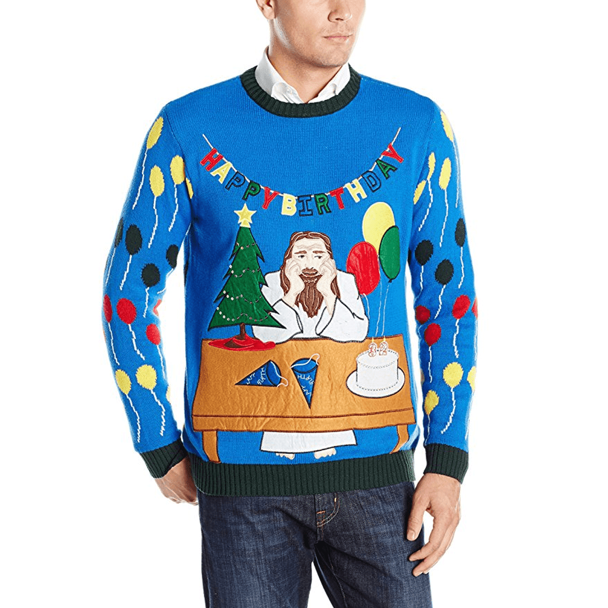 Happy Birthday Jesus Ugly Christmas Sweater | American AF - AAF Nation