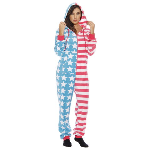USA Flag Adult Pajamas (Ladies)