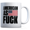 American as F - Black - Coffee Mug