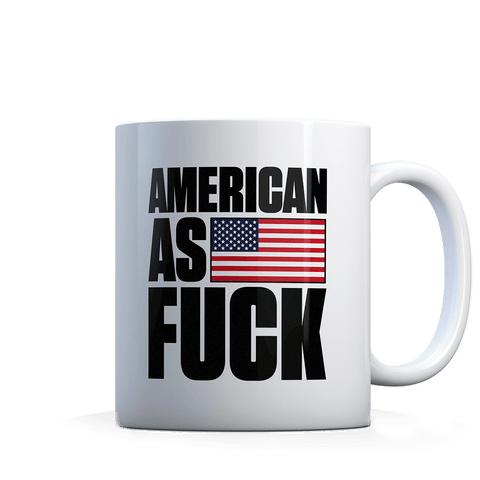 AK: American as F - Black - Coffee Mug