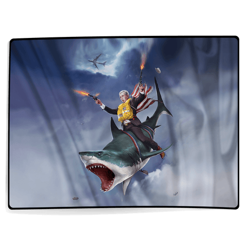 Cowboy Dubya - The Shark Rider - Blanket