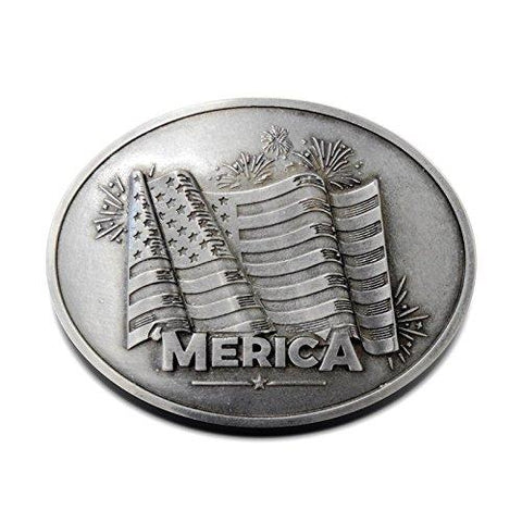 Merica Beer Belt Buckle - Bottle Holder