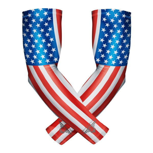 Star Spangled Compression Arm Sleeves (1 Pair)