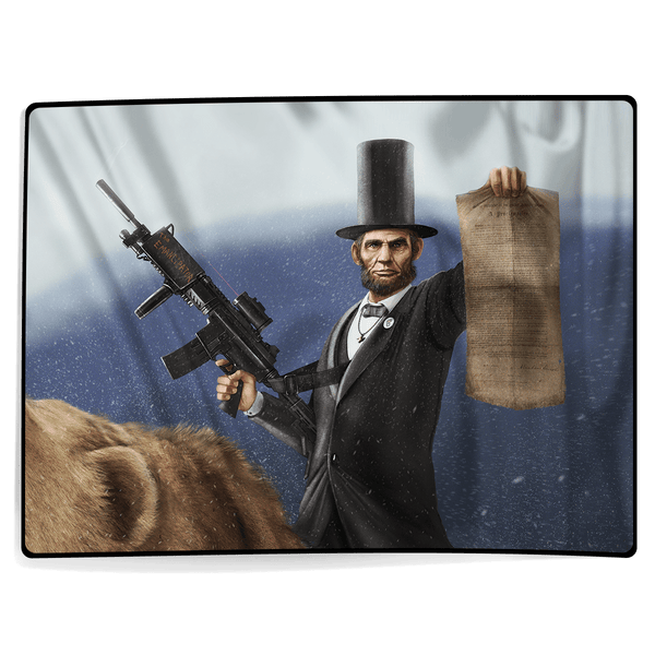 Abe Lincoln - The Emancipator (Zoom) - Blanket