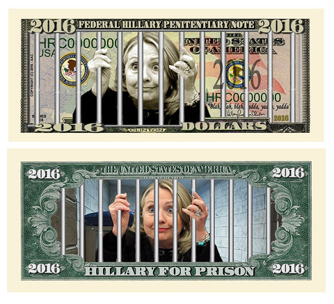 Hillary For Prison 2016 Dollar