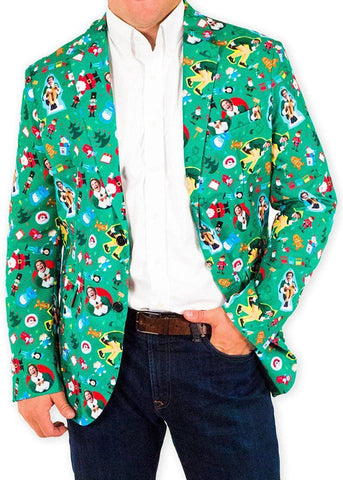 Jolly Elf Holiday Christmas Suit Coat and Tie