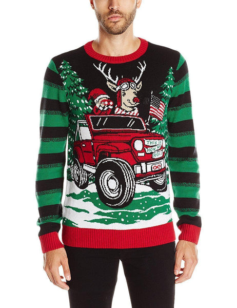 This Is How We Roll Light Up Christmas Sweater