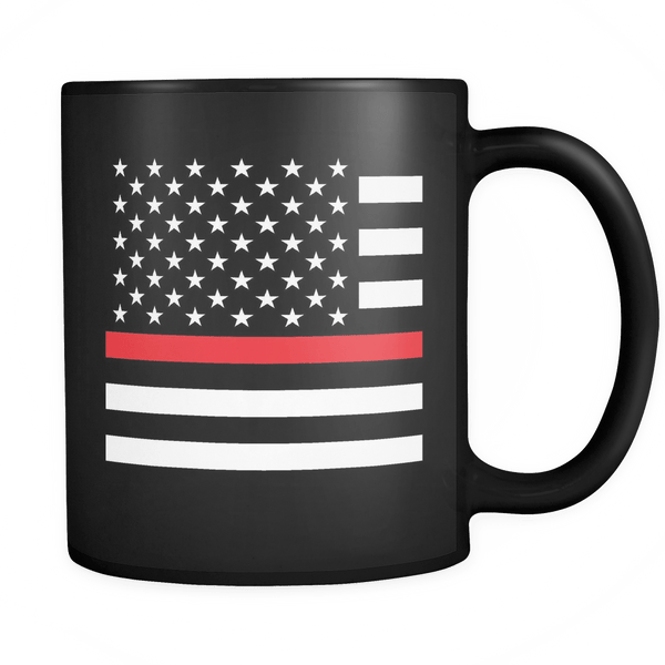 Firemen - Red Line Flag - Coffee Mug