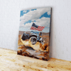 Abe Jeep Jump - Canvas