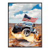 Abe Jeep Jump - Poster