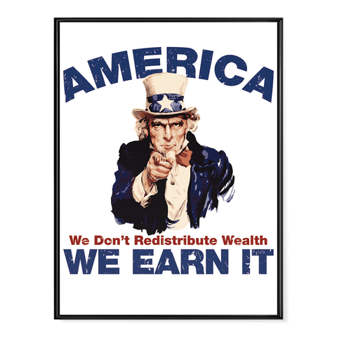 America - We Earn It - Poster