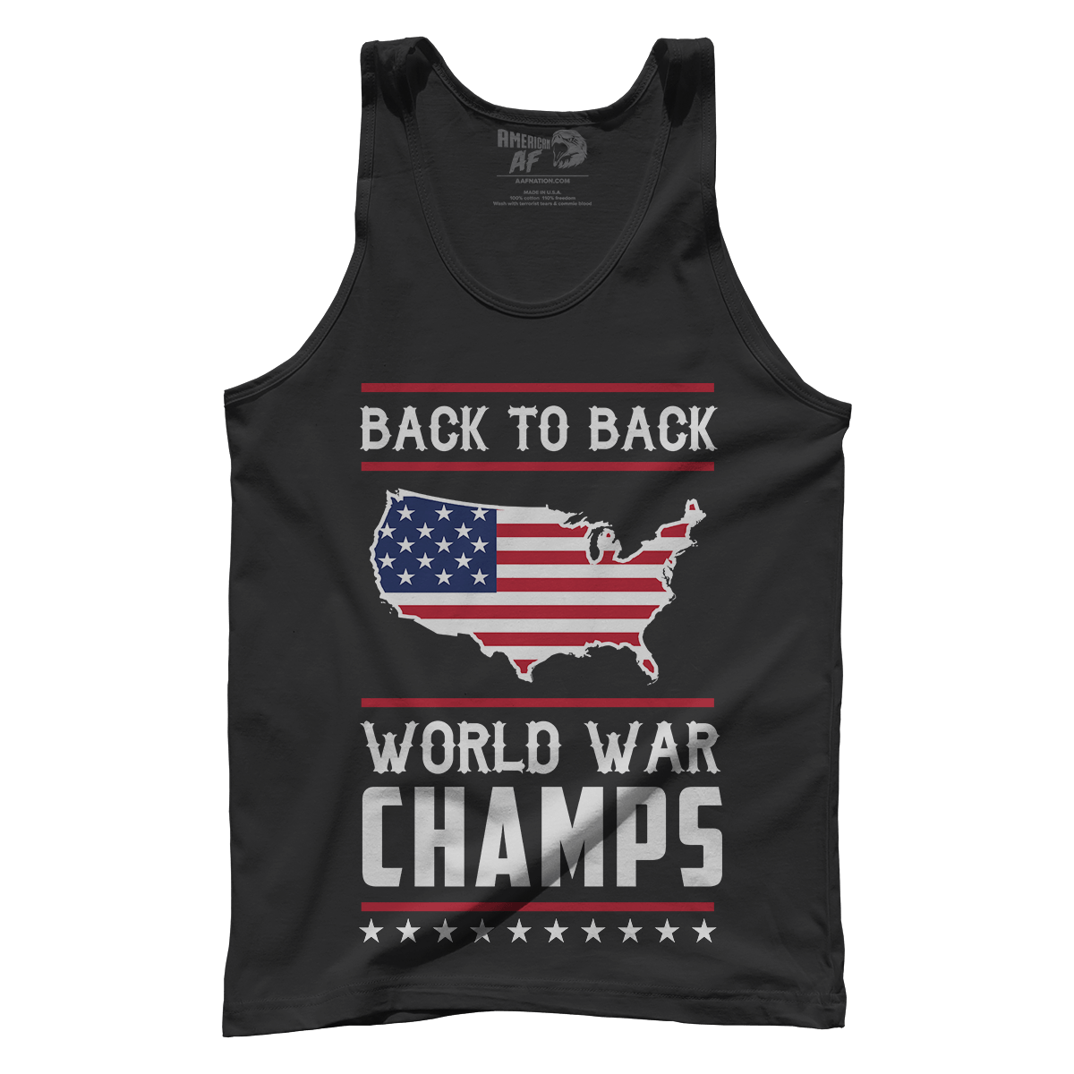 Back To Back World War Champs Champions USA Flag Men/'s Tank Top S-3XL NAVY