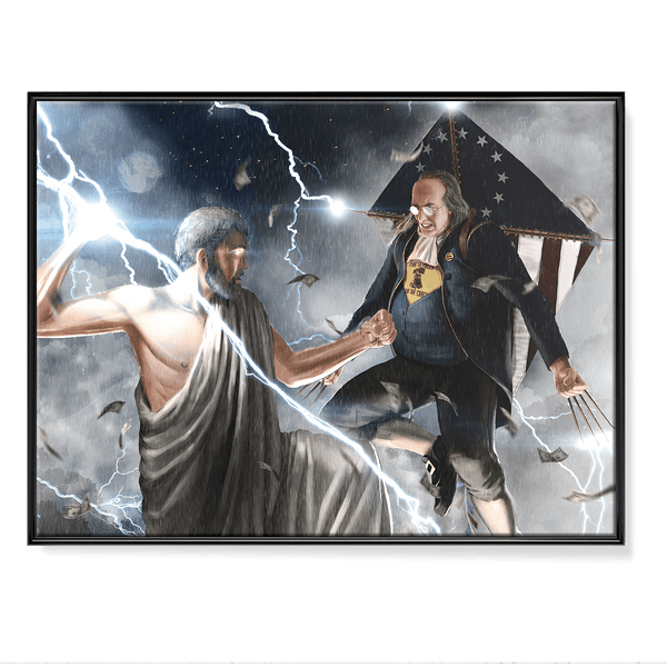 Ben Franklin VS Zeus - Poster