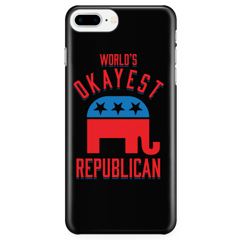 World's Okayest Republican - Phone Case