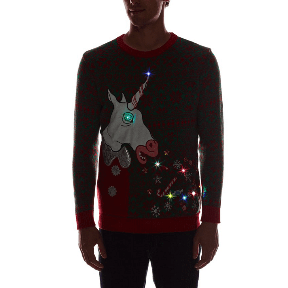 b879e86783 ... Too Much Candy Puking Unicorn Light Up Sweater