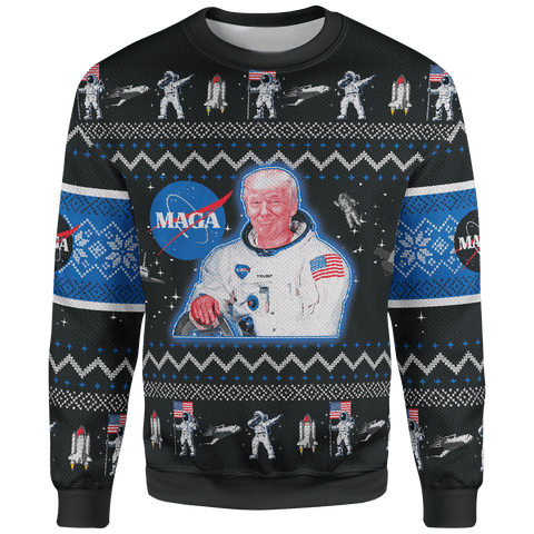 Maga Space Force Christmas Sweater