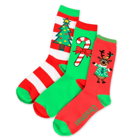 Women's Christmas Socks Assortment - 3 Pack